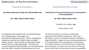 destruction of the environment cover