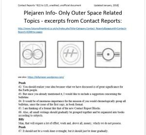 plejaren info-space related- cover